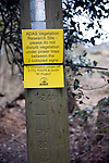 ADAS small scale scientific vegetation research site sign