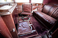 BNPS.co.uk (01202 558833)<br /> Pic: Bonhams/BNPS<br /> <br /> Sumptuous accomodation in the rear.<br /> <br /> A Maharaja's motor which was carried hundreds of miles across the Himalayas to him has emerged for sale for £40,000.<br /> <br /> The 1926 Crossley's first owner was Maharaja Juddha Shamsher Jang Bahadur Rana, who had it shipped out from the manufacturer's Manchester factory to exotic Calcutta in India.<br /> <br /> Since there was only two miles of road which could be driven in Nepal, the classic car was carried over the mountainous landscape by his unfortunate porters.<br /> <br /> It was used by successive Rana family rulers, who styled themselves as 'heriditary Prime Ministers of Nepal', before leaving the country in 1968, finding a new home in Salt Lake City, US.<br /> <br /> This burgundy model, the 20.9HP Canberra Landaulette, is believed to be the only surviving example of its type in the world. It is going under the hammer with auction house Bonhams, of London.