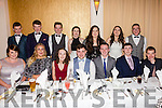 The Green Army from Cromane attending the South & Mid Kerry Social in the Ring of Kerry Hotel on Saturday were front l-r; Liane Teahan, Chloe Teahan, Ellen Mulvenna, Fionán O'Sullivan, Alex King, Shane Scannell, Joe McAllister, back l-r; Chris Scannell, Patrick Scannell, Dáire O'Sullivan, Ciara Griffin, Donna King, Caoilinn O'Sullivan & Dara O'Shea.