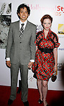 WEST HOLLYWOOD, CA. - October 12:  Actors Geoffrey Arend and Christina Hendricks arrive at the 2008 Hollywood Life Style Awards at the Pacific Design Center on October 12, 2008 in West Hollywood, California.