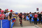Francisco Ventoso (ESP) BMC Racing Team at sign on before Stage 2 of the 100th edition of the Giro d'Italia 2017, running 221km from Olbia to Tortoli, Sardinia, Italy. 6th May 2017.<br /> Picture: Eoin Clarke | Cyclefile<br /> <br /> <br /> All photos usage must carry mandatory copyright credit (&copy; Cyclefile | Eoin Clarke)