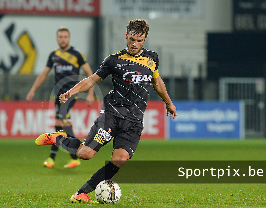 Lokeren's Killian Overmeire pictured during a Croky Cup 1/16 final game between KSC Lokeren (JPL - D1A) and Cercle Brugge (PL - D1B), in Lokeren, Wednesday 21 September 2016. PHOTO DAVID CATRY | Sportpix.be