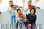 Yuki , Yuya and Jolinn Weng and Meng Ting Ni playing at the classical quartet concert in Siamsa Tire on Sunday.