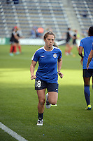 Kansas City, Kansas - Saturday April 16, 2016: FC Kansas City midfielder Alexa Newfield (88) warms up before the game against Western New York Flash at Children's Mercy Park. Western New York won 1-0.