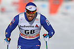 Mark Chanloung in action at the sprint qualification of the FIS Cross Country Ski World Cup  in Dobbiaco, Toblach, on January 14, 2017. Credit: Pierre Teyssot