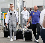 08.08.18 FK Maribor arrive at Glasgow airport: Aleks Pihler