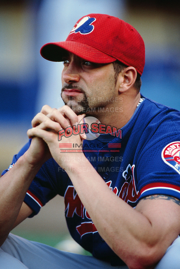 Dustin Hermanson of the Montreal Expos during a game against the Los Angeles Dodgers at Dodger Stadium circa 1999 in Los Angeles, California. (Larry Goren/Four Seam Images)