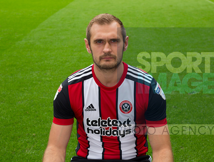 James Hanson of Sheffield Utd during the 2017/18 Photocall at Bramall Lane Stadium, Sheffield. Picture date 7th September 2017. Picture credit should read: Sportimage
