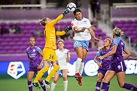 Orlando, FL - Wednesday September 11, 2019: Ashlyn Harris, Sam Kerr , Orlando Pride vs  Chicago Red Stars at Exploria Stadium.