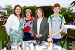 Joan Brennan, Mary Casey, Julia and Dylan Murphy enjoying the Dairymaster 50th Anniversary BBQ in the Ballygarry Hotel on Sunday.