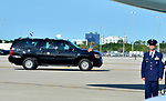 WEST PALM BEACH, FL - FEBRUARY 17: U.S. President Donald J. Trump motorcade leaving the airport tarmac after POTUS finish greeting his supporters after arrives on Air Force One at the Palm Beach International Airport as they prepare to spend part of the weekend at Mar-a-Lago resort on February 17, 2017 in West Palm Beach, Florida. After touring and meeting with Dennis Muilenburg Chairman of the Board, President, and CEO of the Boeing Company. also president Trump planning to hold a campaign rally tomorrow at Melbourne Florida. ( Photo by Johnny Louis / jlnphotography.com )