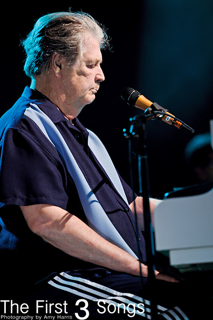 Brian Wilson of The Beach Boys performs at Blossom Music Center on June 13, 2011 in Cleveland, Ohio.