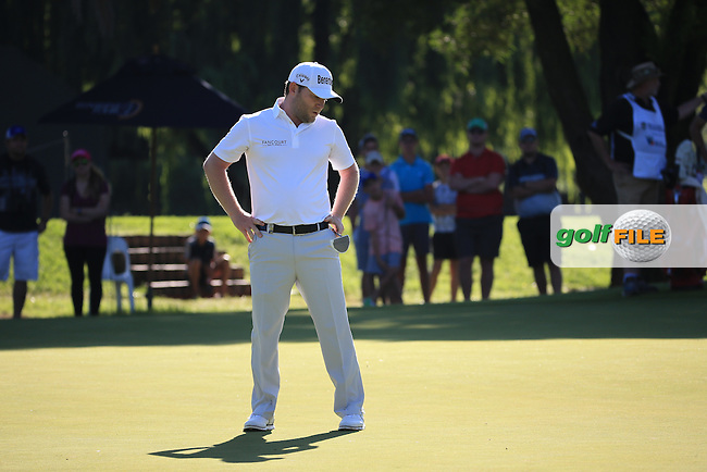 A bogey on 17 costs Branden Grace (RSA) the lead during the completion of Round Two of the 2016 BMW SA Open hosted by City of Ekurhuleni, played at the Glendower Golf Club, Gauteng, Johannesburg, South Africa.  09/01/2016. Picture: Golffile | David Lloyd<br /> <br /> All photos usage must carry mandatory copyright credit (&copy; Golffile | David Lloyd)