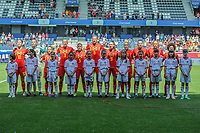 20190601 - LEUVEN , BELGIUM : Belgian team pictured during the female soccer game between the Belgian Red Flames and Thailand , a friendly game as a preparation for Thailand for the World Championship in France 2019, Saturday 1 th June 2019 at OHL Stadion Den Dreef in Leuven , Belgium. PHOTO SPORTPIX.BE | STIJN AUDOOREN