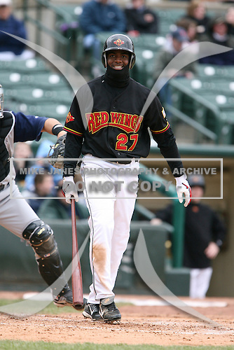 2007:  Denard Span of the Rochester Red Wings in a game at Frontier Field during an International League baseball game.  Photo copyright Mike Janes Photography 2007.