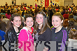 Local friends Amy Cullinane, Lauryn McMahon, Maria Power and Eireann O'Shea enjoying the fashion last Thusday night in Scoil Ide agus Iosef, Abbeyfeale for a special fundraising event organised by transition year students.