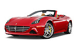 Stock pictures of low aggressive front three quarter view of 2015 Ferrari California T 2 Door Convertible Low Aggressive