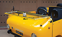 BNPS.co.uk (01202 558833)<br /> Pic: RMSothebys/BNPS.<br /> <br /> Windscreen folds flat for wind in your hair motoring...<br /> <br /> Not-so-rugged off roader revs up for auction...<br /> <br /> This quirky-looking Italian off-road microcar from the 1960's has emerged for sale at auction for £33,000 ($40,000).<br /> <br /> The bizarre Ferves Ranger is one of just 50 survivors of its kind and is powered by a tiny 18-horsepower engine based on Fiat 500 parts.<br /> <br /> Despite its lack of power the motor is incredibly desirable and has the capability to cover terrain that no other microcar could dream of - and unlike a Ranger Rover, if the tiny motor gets stuck you can just push it out on your own.