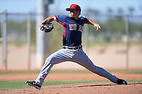 Cleveland Indians pitcher Tim Pannone (39) during an Instructional League game against the Seattle Mariners on October 1, 2014 at Goodyear Training Complex in Goodyear, Arizona.  (Mike Janes/Four Seam Images)