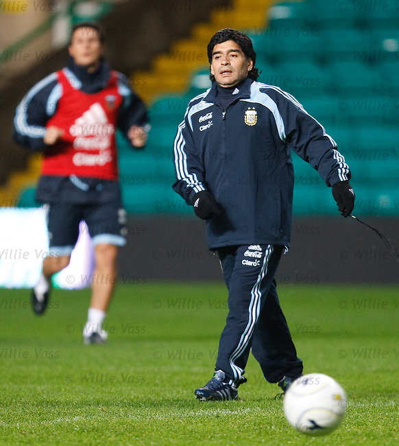 Diego Maradona at Celtic Park