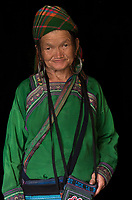 Portraits of the ethnic minority hill tribe people from northern Vietnam, Flower Hmong and the Black Hmong.