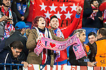 Atletico de Madrid's supporters celebrating the victory during Champions League 2015/2016 Quarter-Finals 2nd leg match. April 13, 2016. (ALTERPHOTOS/BorjaB.Hojas)