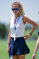 Jimmy Walker's (USA) wife, Erin watches near the 9th tee box during round 2 of the Valero Texas Open, AT&amp;T Oaks Course, TPC San Antonio, San Antonio, Texas, USA. 4/21/2017.<br /> Picture: Golffile | Ken Murray<br /> <br /> <br /> All photo usage must carry mandatory copyright credit (&copy; Golffile | Ken Murray)