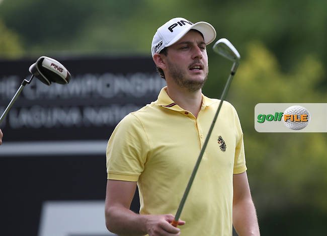 Matthew Nixon (ENG) potential for a very low score was blighted with bogeys on the back nine and a 70 during Round One of the The Championship 2014 from the Laguna National Golf & Country Club, Tampines, Singapore. Picture:  David Lloyd / www.golffile.ie