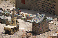 Sculpture in yard of Tom Kelly's bottle house. Rhyolite ghost town, Nevada