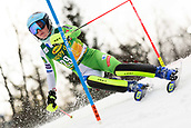 2nd February 2019, Maribor, Slovenia;  Meta Hrovat of Slovenia in action during the Audi FIS Alpine Ski World Cup Women's Slalom Golden Fox on February 2, 2019 in Maribor, Slovenia