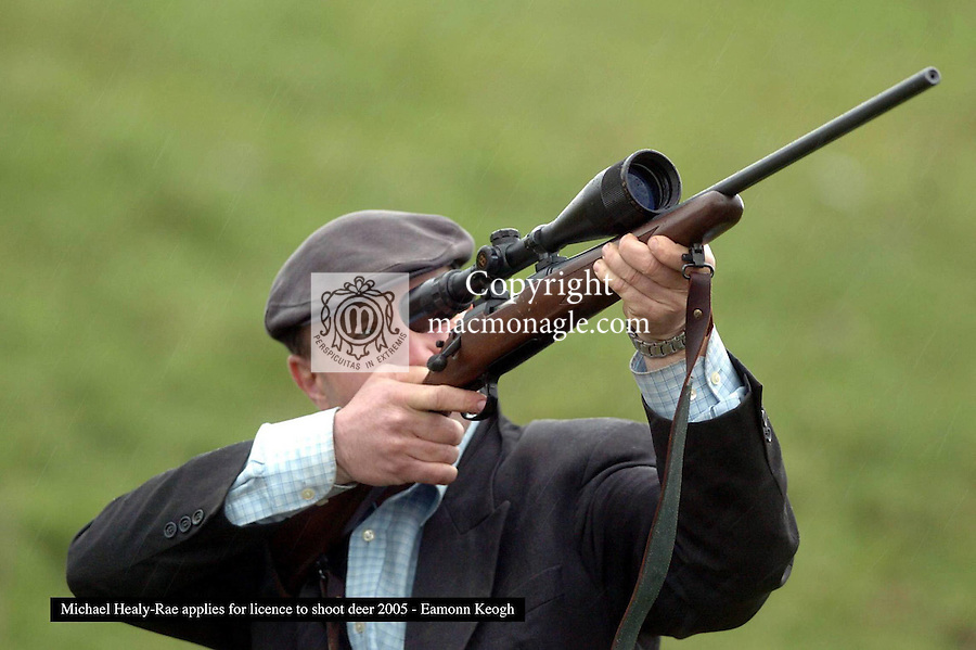 Michael Healy-Rae has applied for a permit to shoot deer in an effort to reduce the deer population. Michael already has a gun licence for his rifle that allows him to shoot pheasants and foxes.<br /> Picture: Eamonn Keogh (MacMonagle, Killarney)