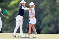 Yuka Yasuda (JPN) and Kaitlyn Papp (USA) during the final  round at the Augusta National Womans Amateur 2019, Augusta National, Augusta, Georgia, USA. 06/04/2019.<br /> Picture Fran Caffrey / Golffile.ie<br /> <br /> All photo usage must carry mandatory copyright credit (&copy; Golffile | Fran Caffrey)