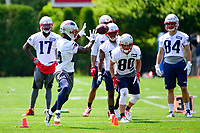 June 13, 2017: New England Patriots wide receiver Brandon Cooks (14) makes a catch during a drill at the New England Patriots organized team activity held on the practice field at Gillette Stadium, in Foxborough, Massachusetts. Eric Canha/CSM