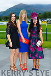 Fiona O'Riordan, Karen O'Sullivan and Heather Guinee enjoying ladies day at  Killarney Races on Saturday
