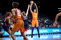 Washington, DC - July 30, 2019: Phoenix Mercury center Brittney Griner (42) connects on a jump shot during first half action of game between the Phoenix Mercury and Washington Mystics at the Entertainment & Sports Arena in Washington, DC. (Photo by Phil Peters/Media Images International)