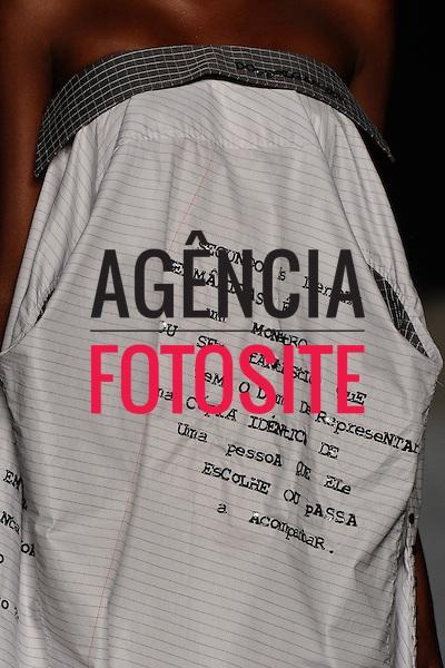 Rio de Janeiro, Brasil – 10/01/2011 - Detalhe do desfile da Sampler- Rio Moda Hype durante o Fashion Rio  -  Inverno 2011. Foto : Marcelo Soubhia / Agência Fotosite