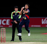 Marcus Stoinis bowls for Kent during the Vitality Blast T20 game between Kent Spitfires and Essex Eagles at the St Lawrence Ground, Canterbury, on Thu Aug 2, 2018