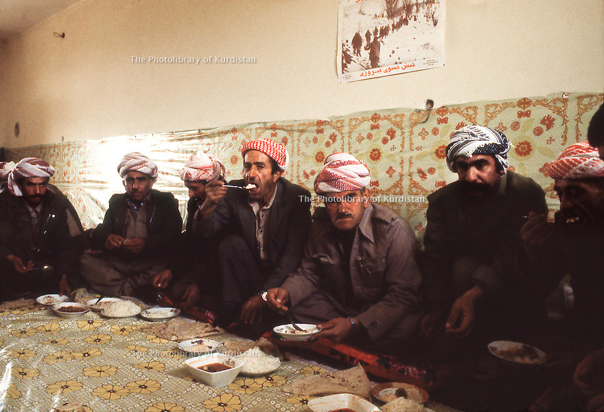 Iran 1979.Ziweh: Lunch in the house of Aref Yassin