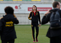 20180228 - LARNACA , CYPRUS :  Belgian Silke Vanwynsberghe pictured during a women's soccer game between Spain and the Belgian Red Flames , on friday 2 March 2018 at the AEK Arena in Larnaca , Cyprus . This is the second  game in group B for  Belgium during the Cyprus Womens Cup , a prestigious women soccer tournament as a preparation on the World Cup 2019 qualification duels. PHOTO SPORTPIX.BE | DAVID CATRY