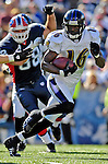 21 October 2007: Baltimore Ravens wide receiver  Yamon Figurs in action against the Buffalo Bills at Ralph Wilson Stadium in Orchard Park, NY. The Bills defeated the Ravens 19-14 in front of 70,727 fans marking their second win of the 2007 season...Mandatory Photo Credit: Ed Wolfstein Photo