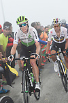 Benjamin King (USA) Team Dimension Data and Sergio Luis Henao (COL) Team Sky on the final climb of Stage 17 of the La Vuelta 2018, running 157km from Getxo to Balcón de Bizkaia, Spain. 12th September 2018.                   <br /> Picture: Colin Flockton | Cyclefile<br /> <br /> <br /> All photos usage must carry mandatory copyright credit (© Cyclefile | Colin Flockton)