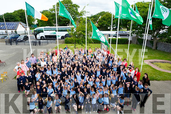GREEN FLAG: On Wednesday morning community Garda Aidan O'Mahony was invited to raise Ardfert NS Green Flag were the pupils were in their Seventh Haven as Aidan raise the 7th Green Flag.