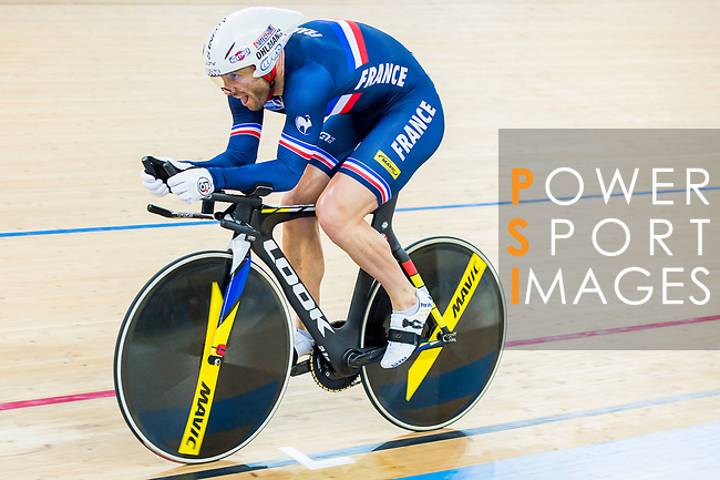 Francois Pervis of France competes in the Men's Kilometre TT Final during the 2017 UCI Track Cycling World Championships on 16 April 2017, in Hong Kong Velodrome, Hong Kong, China. Photo by Marcio Rodrigo Machado / Power Sport Images
