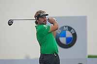 Victor Dubuisson (FRA) tees off the 2nd tee during Thursday's Round 1 of the 2014 BMW Masters held at Lake Malaren, Shanghai, China 30th October 2014.<br /> Picture: Eoin Clarke www.golffile.ie