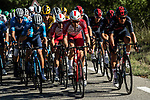 The peloton including Pierre Luc PERICHON (FRA) Cofidis and Andrey Amador (COR) Team Ineos Grenadiers take it easy during Stage 5 of Tour de France 2020, running 183km from Gap to Privas, France. 2nd September 2020.<br /> Picture: ASO/Alex Broadway | Cyclefile<br /> All photos usage must carry mandatory copyright credit (© Cyclefile | ASO/Alex Broadway)