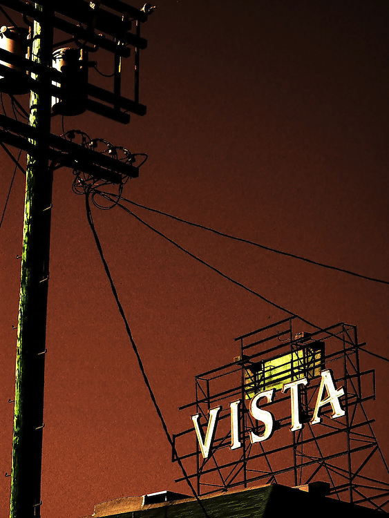 The Vista theatre sign in Hollywood