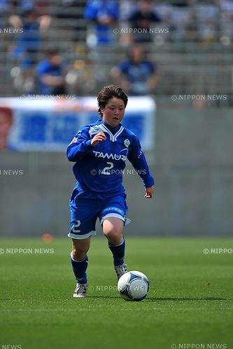 Aki Tago (AS Elfen Sayama),.APRIL 15, 2012 - Football/Soccer : 2012 Plenus Nadeshiko League,1st sec match between AS Elfen Sayama FC 0-5 Urawa Reds Diamonds Ladis at NACK5 Stadium Omiya, Saitama, Japan. (Photo by Jun Tsukida/AFLO SPORT) [0003]