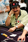 Team Pokerstars Pro Humberto Brenes sees his fate as the river hits and he is eliminated.