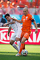 Eugenio Mena (CHI), Arjen Robben (NED), JUNE 23, 2014 - Football / Soccer : FIFA World Cup Brazil 2014 Group B match between Netherlands 2-0 Chile at Arena de Sao Paulo Stadium in Sao Paulo, Brazil. (Photo by Maurizio Borsari/AFLO)