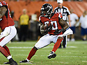 CLEVELAND, OH - AUGUST 18, 2016: Running back Cyrus Gray #30 of the Atlanta Falcons carries the ball in the fourth quarter of a preseason game on August 18, 2016 against the Cleveland Browns at FirstEnergy Stadium in Cleveland, Ohio. Atlanta won 24-13. (Photo by: 2016 Nick Cammett/Diamond Images) *** Local Caption *** Cyrus Gray